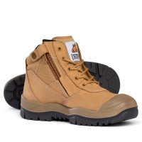 SIZE 9.5 Mongrel Boots Wheat ZipSider Low Leg Boot (scuff cap) 461050