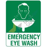 240x180mm - Self Adhesive - Emergency Eye Wash (506DA)