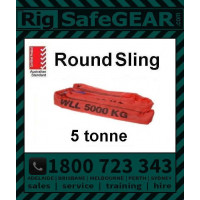5 Tonne Round Slings (Red) 3m - 5m Lengths