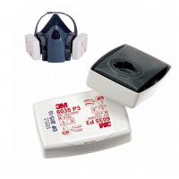 3M P2/P3 Particulate Rectangular White Filter (6035)- PK -10