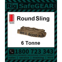 6 Tonne Round Slings (Brown) 3m - 6m Lengths