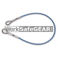 6mm 15kN MBS wire plastic coated  safety lanyard with thimble eye