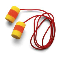 (Case of 10 boxes) 3M Yellow with Red Band Corded Earplugs in Polybag Class 4 SLC80 22dB (200 pairs per box) (70071514957)