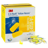 (Case of 10 boxes) 3M Regular Size Yellow Uncorded Earplugs in Polybag Class 4 SLC80 23dB (200 pairs per box) (70071515020)