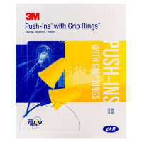 (Case of 10 boxes) 3M Yellow Uncorded Earplugs in Polybag Class 4 SLC80 24dB (200 pairs per box) (70071515657)