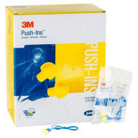 (Case of 10 boxes) 3M Yellow Corded Earplugs in Polybag Class 4 SLC80 23dB (200 pairs per box) (70071515707)