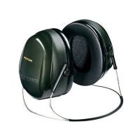 (Case of 10 boxes) 3M Green Neckband Format Earmuffs Class 5 SLC80 28dB (1 pair per box) (70071516317)