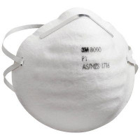 (Case of 8 boxes) 3M P1 Cupped Particulate Respirator (8000)