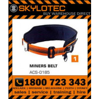 Skylotec Miners Belt black steel hardware with back support pad & Miners equipment straps (ACS-0185)