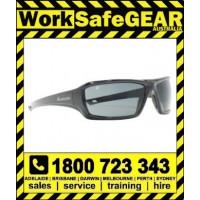 Bandit III Assassin Polarised Safety Glasses Eye Protection Specs Black Frame, Smoke Lens (3823SBPS-Polarised)