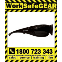 Bandit III Hijack Polarised Safety Glasses Eye Protection Specs Black Frame, Smoke Lens (822SBPS-Polarised)