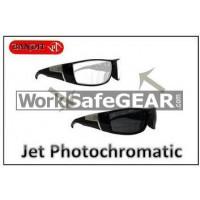 Bandit III JET Photochromatic Transition Lens Safety Glasses Eye Protection Specs Black Frame (5506SBPHGC)