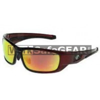 Bandit III Maverick Fashion Safety Glasses Eye Protection Specs Black-Red Frame, Red Lens (8105SBRBM)