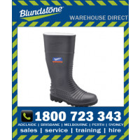 Blundstone Style 028 Grey Waterproof Safety Gumboot with internal metatarsal guard