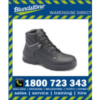 Blundstone Style 312 Black Waxy Leather Lace Up Safety Boot