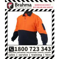 Brahma Workwear Hi Vis Flouro Taped Windcheater Reflective Tape Jumper