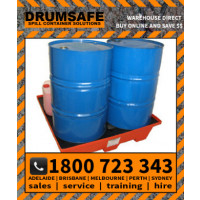 DRUMSAFE ECONOPALLET Drumsafe Spill Prevention Secondary Containment - 4 DRUM