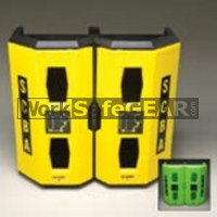 Dual Hi-Viz Heavy Duty SCBA Wall Case Yellow (ResAL 4325 WSG)
