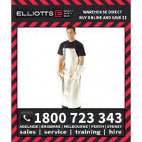 Elliotts Aluminised PREOX UNLINED APRON MEDIUM Furnace FR Welding Protective Clothing Workwear (APA4224U)