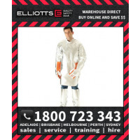Elliotts Aluminised PREOX UNLINED QUARTER BACK SMOCK Furnace FR Welding Protective Clothing Workwear (APS48U)