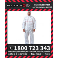 Elliotts ELLGARD X4 WHITE Disposable Coveralls Overalls Protective Clothing Onesuit Jumpsuit Industrial Hazardous Protection
