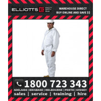 Elliotts ELLGARD X5 Disposable Coveralls Overalls White Protective Clothing Onesuit Jumpsuit Industrial Hazardous Protection