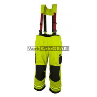 Elliotts X Series Firefighting Trousers NOMEX 3D LIME HEAVY DUTY REINFORCED Thermal Lined Fire Resistant Protection Workwear