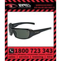 Eyres 620 THUNDER Smoke Lens Black Frame Safety Specs