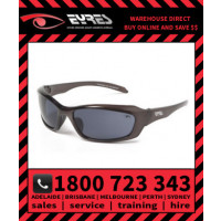 Eyres 702 RAZOR Medium Impact X-Sighting Safety Glasses Smoke Lens (702-C8-GY)