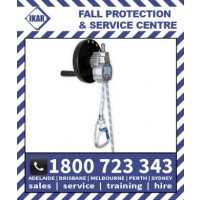 IKAR 20m Controlled Descent Device - Aluminium Housing, Kernmantle Rope Lifeline - Integral Hoisting Facility (ABS3aWH20)