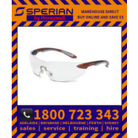 Ignite Red Silver Frame Grey Lens Hard Coat Safety Glasses