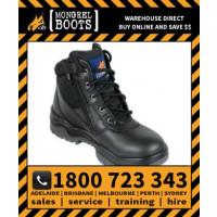 Mongrel Black Low Leg ZipSider Boot Work Boot Victor Footwear Shoe (961020)