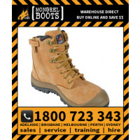 Mongrel ZipSider Safety Boot High Ankle Wheat Safety Work Boot Victor Footwear Shoe (561050)