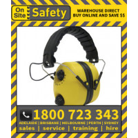 On Site Safety NITROUS FM Radio 20dB Class 3 Earmuffs Hearing Protection (M72)