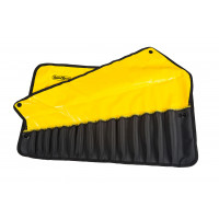 RX03B612YE - 17 PCE STANDARD SPANNER ROLL - YELLOW WITH BLACK POCKETS pic1.jpg
