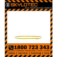 Skylotec attachment sling loop  35 kN - Top stitched YELLOW hose strap 25mm wide (L-0010-GE-0.8) 0.8m length