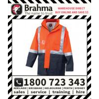 Brahma Workwear HiVis Flouro 2 Tone Half Zip Fleece Jumper