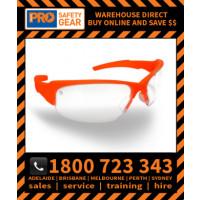ProChoice Throttle Hi Vis Orange Frame Clear Lens (8080O) Medical & Industry use