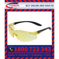 Harpoon 261 Amber Hard Coat Lens with Black Frame Safety Glasses Specs (261BKAR)