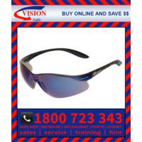 Harpoon 261 Blue Mirror Lens with Black Frame Safety Glasses Specs (261BKBM)