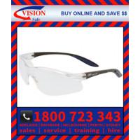 Harpoon 261 Clear Anti-Fog Anti-Scratch Lens with Black Frame Safety Glasses (261BKCLAF)
