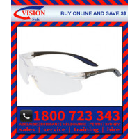 Harpoon 261 Clear Hard Coat Lens with Black Frame Safety Glasses Specs (261BKCL)