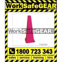 (CLP) CONE 4 SIDED - PINK BLANK 890mm Plastic