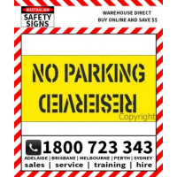 (STCP102) STENCIL NO PARKING_RESERVED 1350X650mm POLY