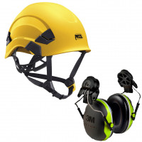 Petzl Vertex AS/NZ 1801 Compliant Helmet Yellow (A010AA01) & 3M Earmuffs X4P3G/E