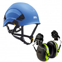 Petzl Vertex AS/NZ 1801 Compliant Helmet Blue (A010AA05) & 3M Earmuffs X4P3G/E