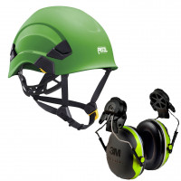 Petzl Vertex AS/NZ 1801 Compliant Helmet Green (A010AA06) & 3M Earmuffs X4P3G/E