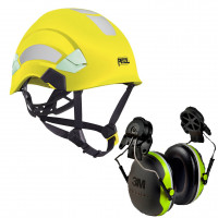 Petzl Vertex AS/NZ 1801 Helmet Hi-Vis Yellow (A010DA00) & 3M Earmuffs X4P3G/E