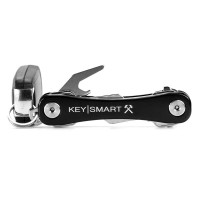 KeySmart Rugged Alum-Blk with Belt Clip,Bottle Opener