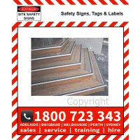 ANTISLIP STAIR TREADS ALUMINIUM Steel Backed Course Surface